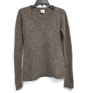 Columbia Gray Boucle Textured V-Neck Top